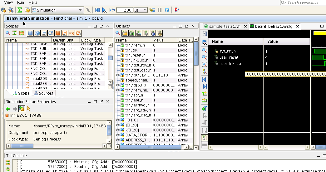 You could also run the already ran simulation by opening *.wdb file as shown in Figure 36. Figure 36 Open Already Completed Simulation Vivado has a number of windows.