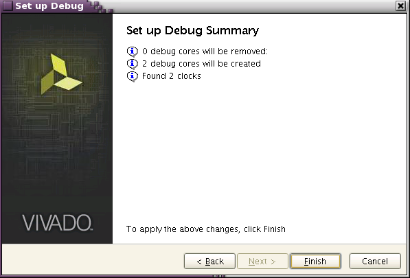 Figure 49 Add/Remove nets in Setup Debug Figure 50 - Set up Debug Summary