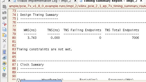 Figure 62 - Reports Tab Figure 63 - Invoking Timing Summary Report after Implementation Figure