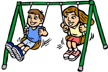 Alex positioned the swing on its lowest setting, just barely off the ground when he sat on it. He held onto the chains with both hands and leaned back as far as his arms would reach.