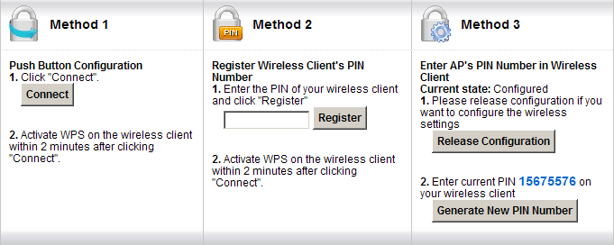 WPS configuration a. WPS Setup 1. Go to Network Settings > Wireless > WPS. 2. Check the Enable box. 3. Click Apply. b. WPS Station Setup 1.