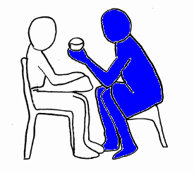 Mealtime positioning Everyone needs to sit in a position that provides the best postural support and a safe position for swallowing.