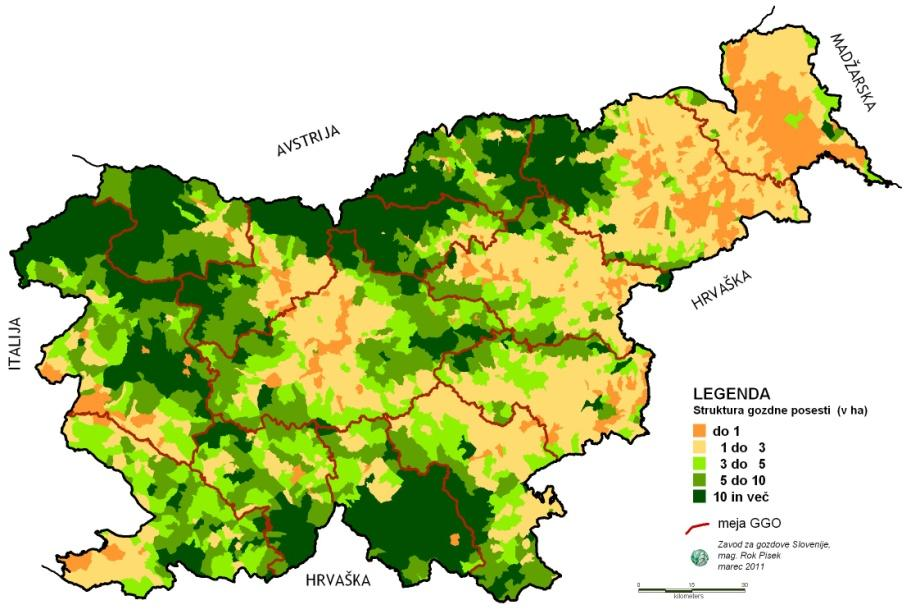 Picture 2: Forest ownership status (source: Slovenian Forest Service) Growing stock, increment and cut According to data from