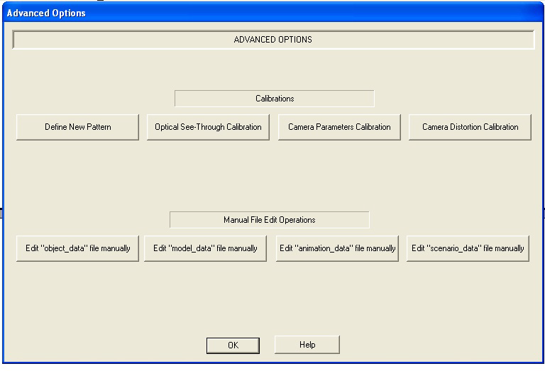 5.1.3.6 Advanced Options Interface Identification and Diagram Figure 25: Advanced Options Define New Pattern button triggers the external program for defining the printed patterns.
