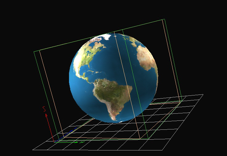 Figure 30: The earth.3ds model file. After creating the model files, Load Models must be selected from the main menu.