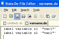 Reshape (Stata, 3) To separate var1 and var2 we need to do a little bit of work.. encode variable, gen(varlabel).