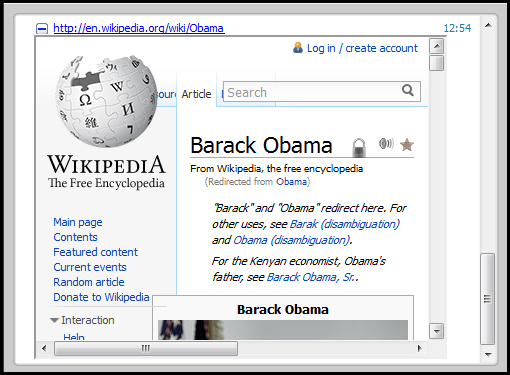 links to YouTube videos links to Wikipedia articles For these links, you can click the icon beside the URL to view the