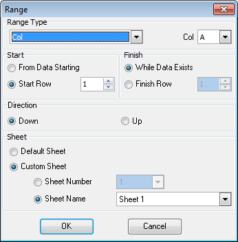 87 4.4 Add/Edit Range To set a range of data 87 to be imported from the file, use the Add range To remove a range, use the Delete range button.