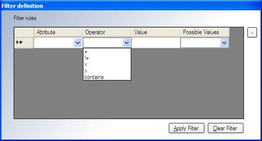 Welcome to the Discovered Machines Import Tool 4. To add a new filter rule, click the Attribute column drop-down arrow and select the attribute.