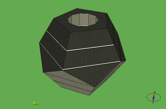 7. If a geometry file contains multiple polyhedron geometries, each with a separate color, they will be imported as separate building bodies or zones in IDA ICE.