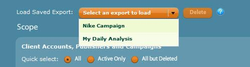 If you plan to use a particular export report more than once, you will have the option of saving your settings when you create the export job.