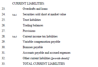 Line A19 Investments in Subsidiaries and Affiliates Line A19 includes the Member s investment in related entities. Investments in subsidiaries and affiliates must be valued at cost.