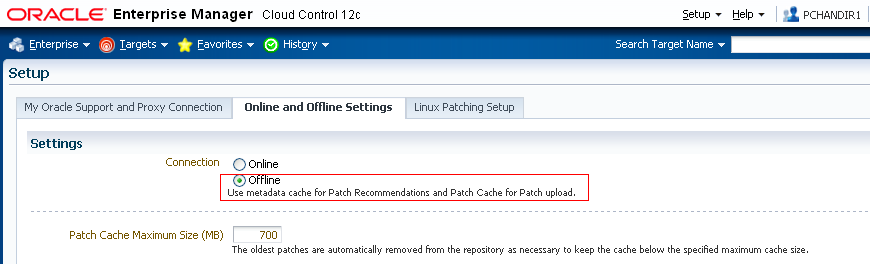 Enterprise Manager provides two modes of connections to My Oracle Support for patching Oracle software: 1.