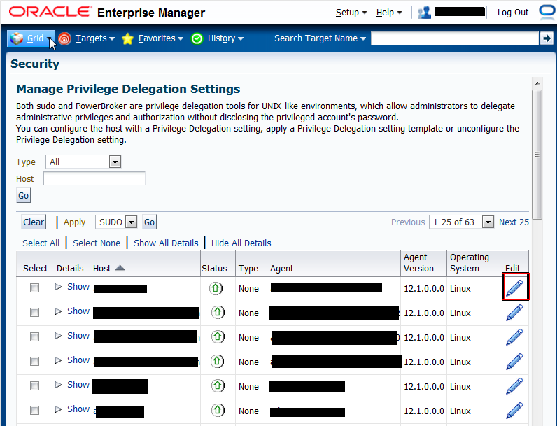 Figure 7: Manage Privilege Delegation Settings Page 4)