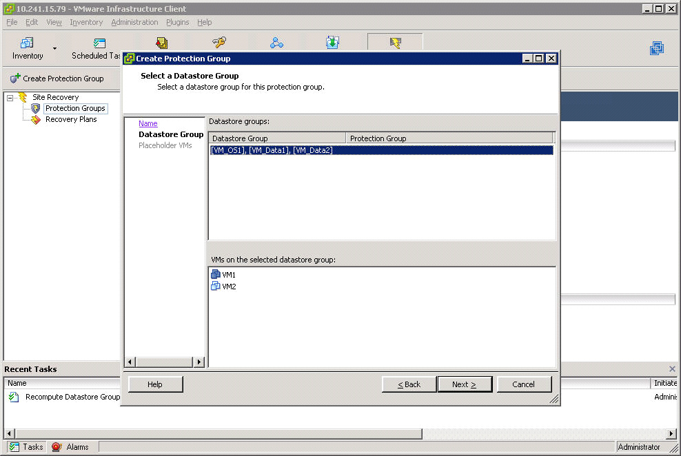 Configuring VMware Site Recovery Manager 3.