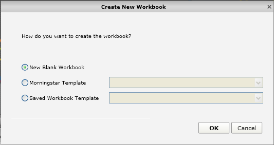 In this exercise, we will create a new workbook from scratch and explore more available features in Presentation Studio. Click on New Worksheet. 1 2.