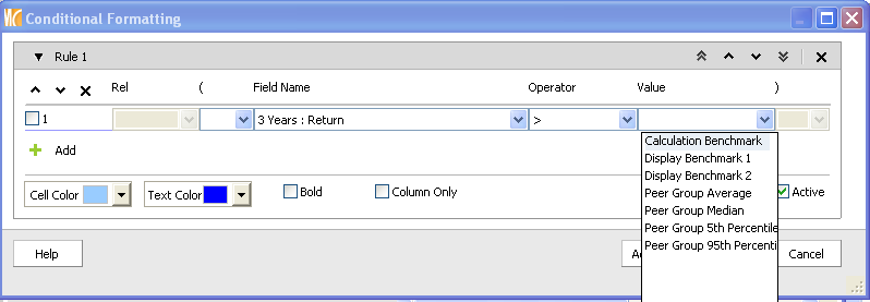 2. Next, right click anywhere on the grid view to select Conditional Format. 2 3 3. Select Conditional Formatting and you will be taken to the Conditional Formatting dialog box to create your rules.