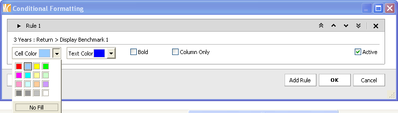 3. Select Conditional Formatting and you will be taken to the Conditional Formatting dialog box to create your rules. 4. You can create as many rules with conditional formatting.