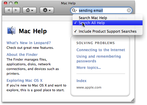 Apple Help Concepts Help Viewer previously visited help pages.