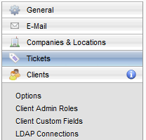 Setting Up the Application Defining Clients The Clients tab pages define Web Help Desk Client users and how they enter information into the application.