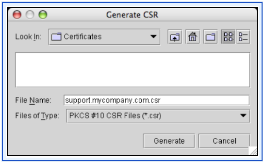 Generating a Certificate Signing Request (CSR) Generating a Certificate Signing Request (CSR) 1.