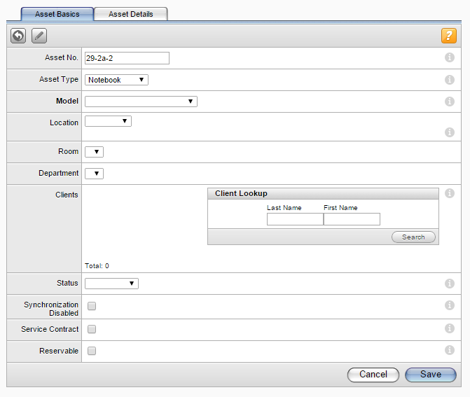 Managing Assets 4. In the Asset No. field, enter a unique number for the asset. To automatically increment asset numbers, adjust this setting in the Options screen located at Setup > Assets > Options.