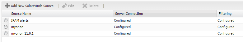 Entering a SolarWinds Orion Alert Source into Web Help Desk Entering a SolarWinds Orion Alert Source into Web Help Desk To retrieve and process alerts from a SolarWinds alert source, add the server