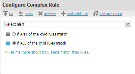 Adding and Configuring Complex Rules Adding and Configuring Complex Rules When you click Add new AND/OR block, the Configure Complex Rule pane appears, as shown below.