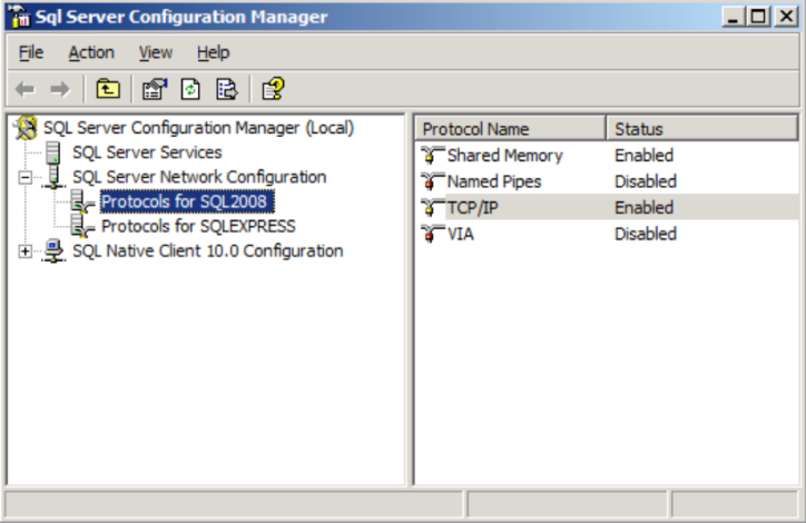 Configuring Microsoft SQL Server and MySQL External Databases 3.