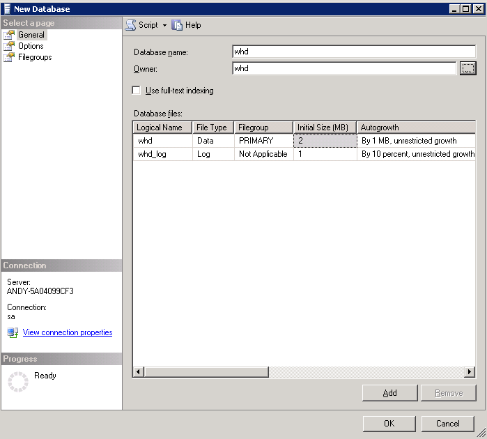 Configuring MySQL 12. Assign that user as the owner. 13. Click OK. Configuring MySQL 1. Connect to the MySQL database server using the SQL Development pane of the MySQL Workbench application. 2.