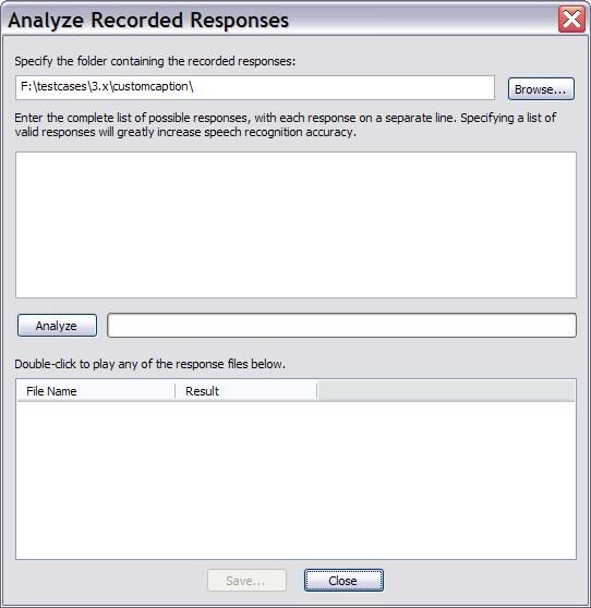 "First, you must specify the folder containing the recorded wav files. You will find these files in a subfolder called ""voicerecord"" located in the folder containing your script file."