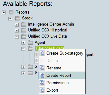Step 3: In the Create Sub-category pane, specify: Name: IT helpdesk data Permissions: Select all check boxes Tech Tip To be able to create report, the user should be