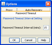 Chapter 2 D2A installation and setup 2. Click the Password Timeout tab. 3. In the Password Timeout Interval (mins) field, enter the desired number of minutes. 4. Click OK.