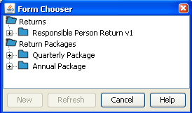Chapter 4 Submitting to APRA 3. In the Return Chooser, select the tab of the required view. 4. Select the required folder of returns or form. 5. Click Download. 6.