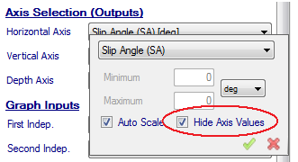 7.6 Hide Axis Values The user can choose whether or not to display axis values on the graphs. This can be very important to ensure confidentiality of the data.