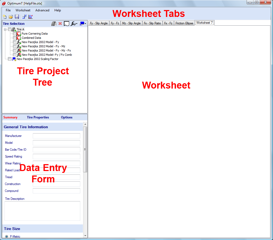 The data entry form The worksheets and the associated worksheet tabs Figure 1.2: Screen Layout 1.