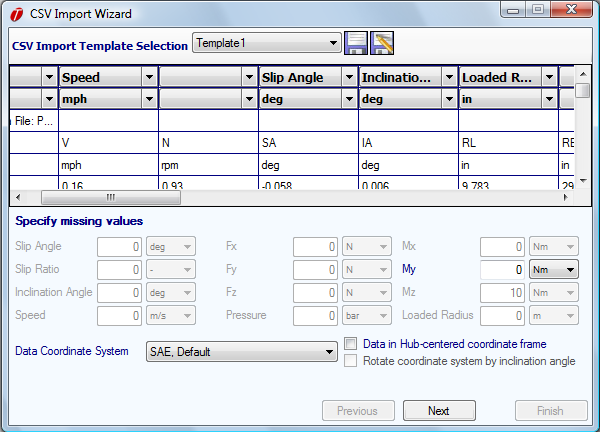 Figure 2.3: Data Import Wizard This process can be automated by using the import template feature at the top of Figure 2.1.