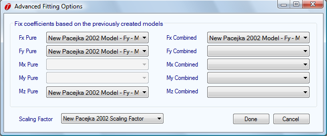 when the model is fit. This is the case because the model will be based on the unscaled Fy Pure coefficients.