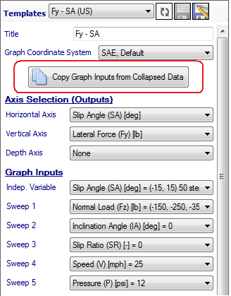 Figure 4.11: Copy Inputs from Collapsed Data Button When this button is clicked a window similar to the one shown in Figure 4.12 will appear.