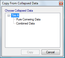 Figure 4.12: Copy Inputs from Collapsed Data Window 4.1.7 Linking Graphs The data input in different graphs can be linked together.