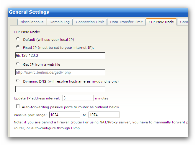16 Wing FTP Server Help If you don't know your External IP address or have a dynamic External IP
