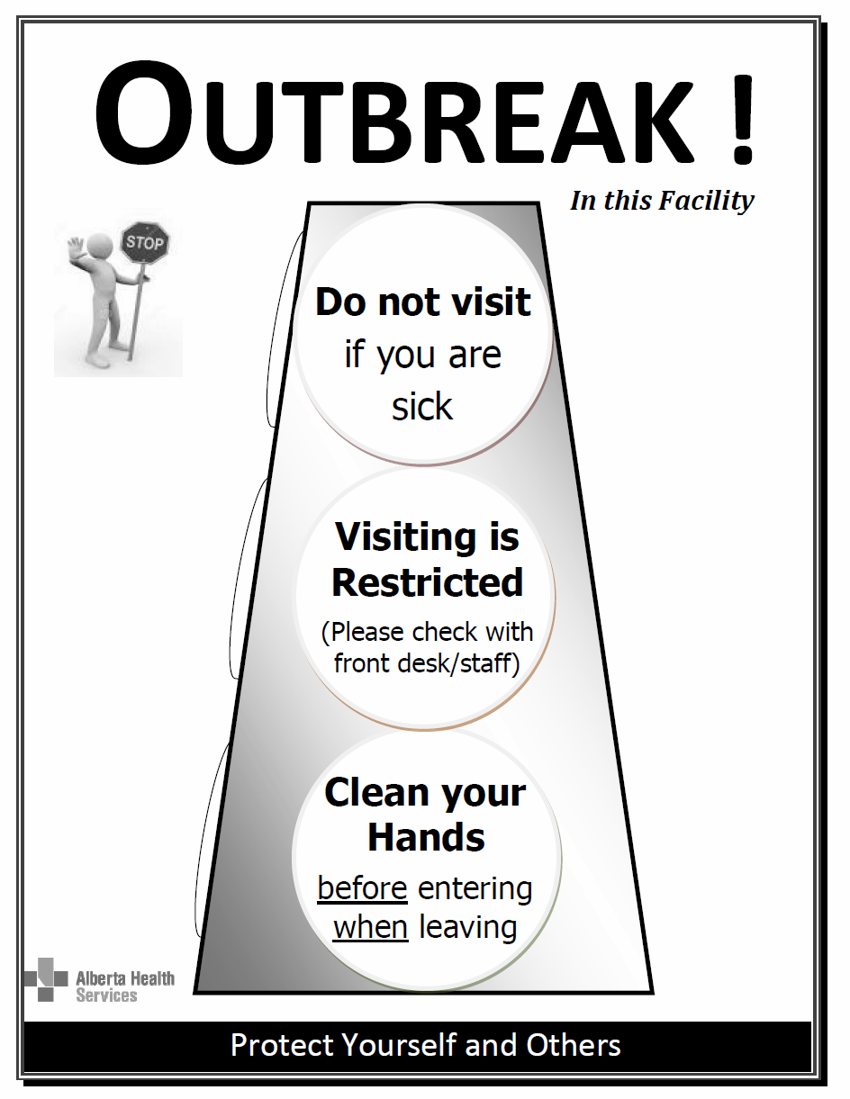 Ppulatin, Public and Abriginal Health Outbreak Signage Black and White Versin Guidelines fr