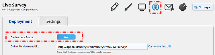 89: MAKING YOUR SURVEY LIVE Surveys created in FluidSurveys are, by default, closed.