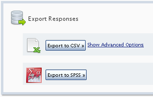 37: EXPORTING SURVEY RESULTS Exporting survey responses is a perfect opportunity for a surveyor to begin creating large scale informative graphs within a 3 rd party application like Microsoft Excel.