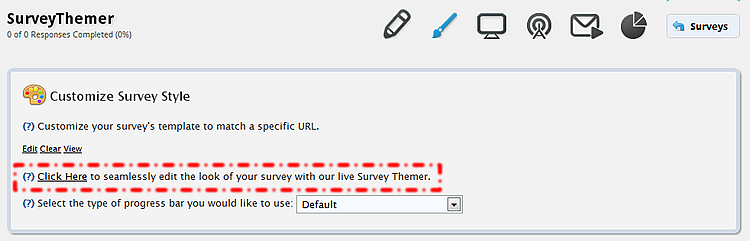 53 THEMER The survey themer allows you to seamlessly edit the appearance of your survey.
