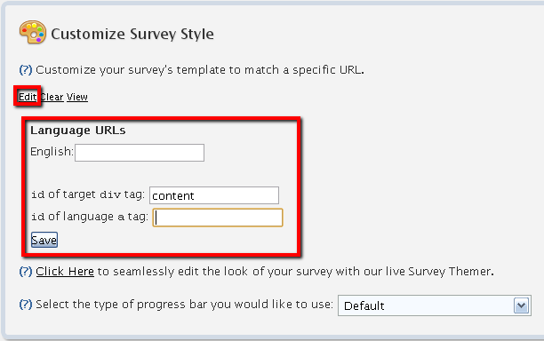 57 TEMPLATE GRABBER (ADVANCED) FluidSurveys allows users to theme their surveys in the style of an online website using the Template Grabber.