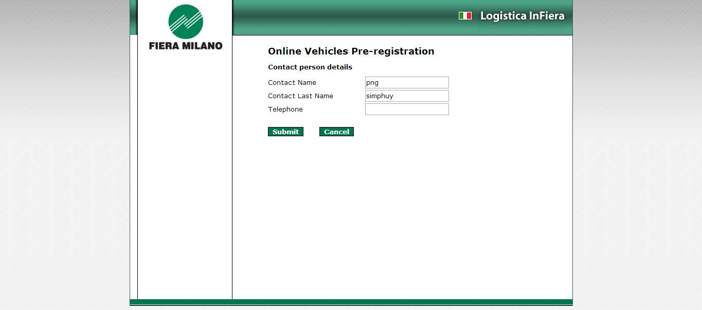 proceed with the registration of Stand Builder and