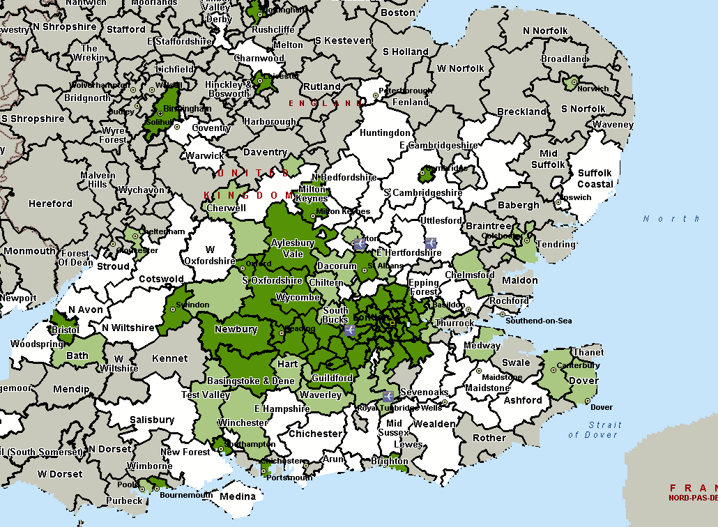 Heathrow districts within an airport s catchment area only if the airport had at least 2% of the passengers originating from that district 20, which could underestimate the size of the catchment area