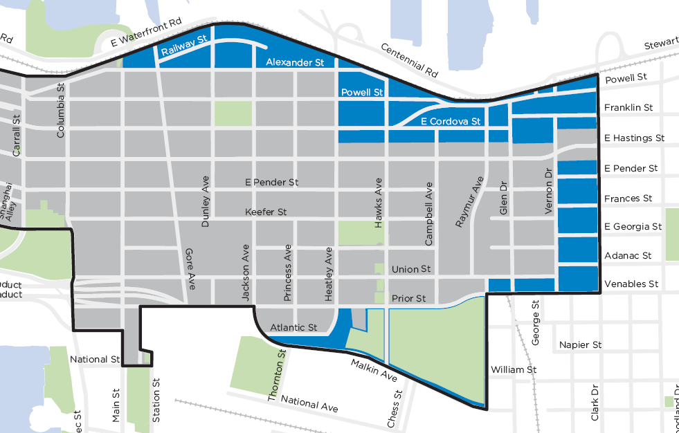 Downtown Eastside Local Area Plan DRAFT Version February 26, 2014 Page 72 7.11 Industrial Areas Map 7.