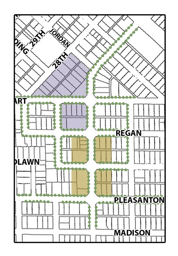 27 th Street Neighbrhd Center Subdistrict Plan Hyde Park Style Neighbrhd Cmmercial District Grund level retail with shared parking t rear f buildings Twnhuses, cndminiums r apartments may be included